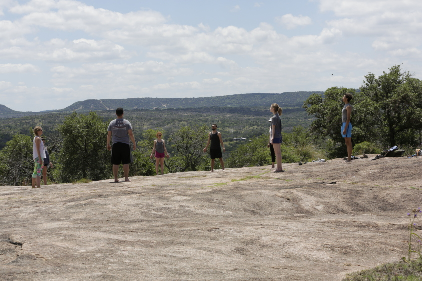 Yoga at Enchanted Rock State Natural Area - Michael Johnson Photographer