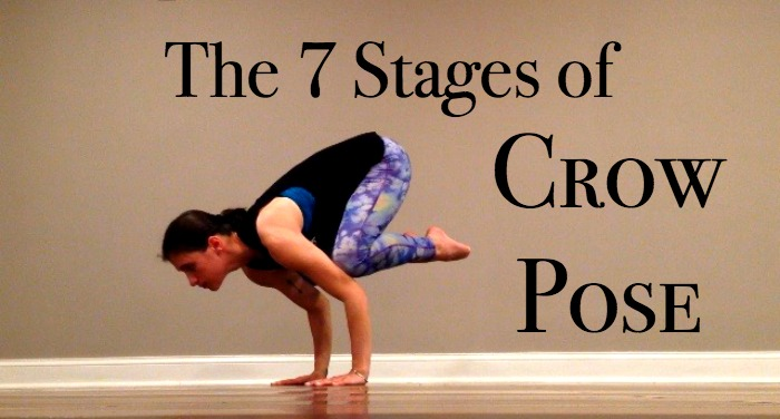 Yoga crow pose variations