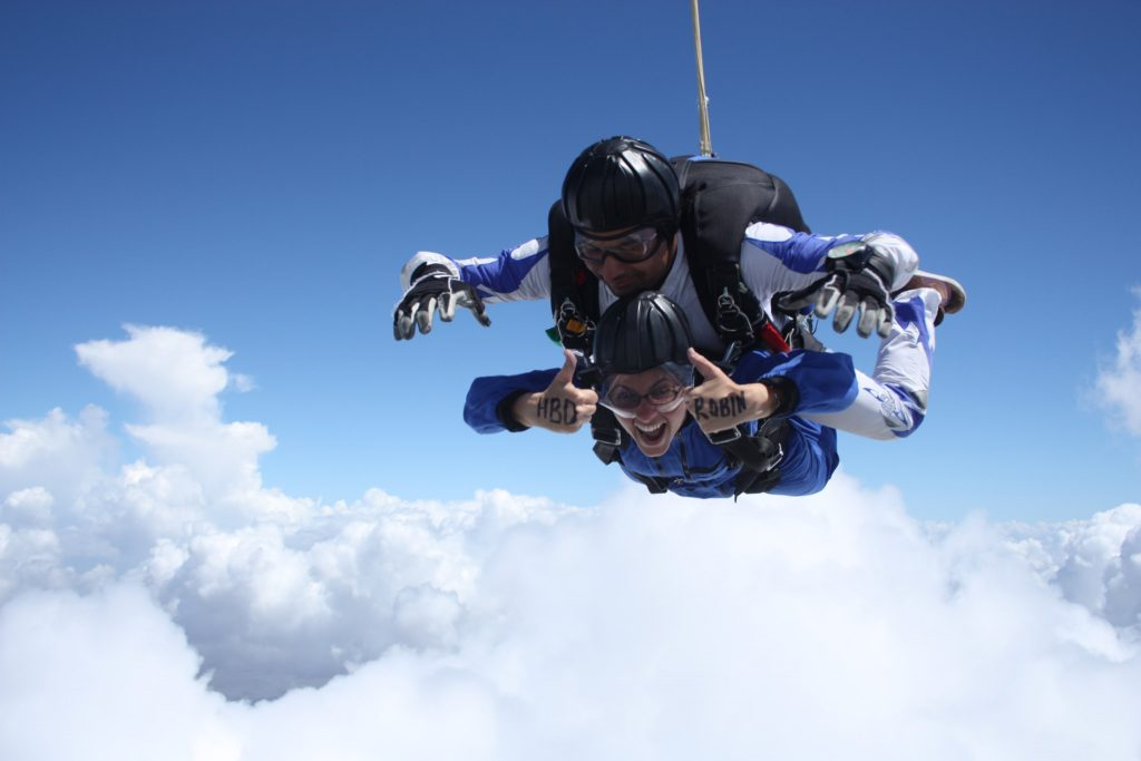 I jumped out of a plane today