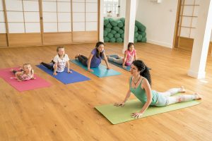 Kids yoga teacher