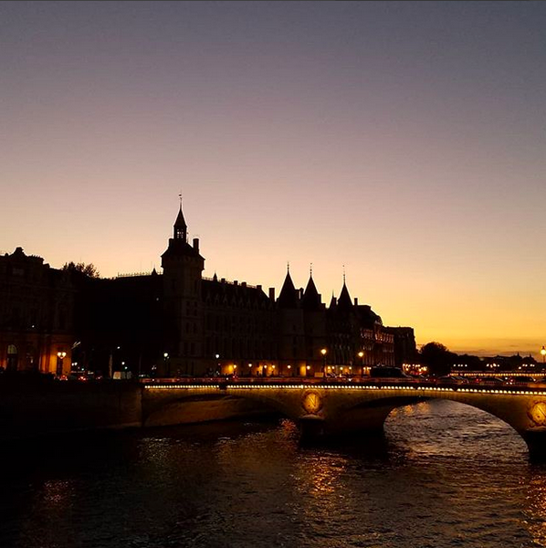 Sunset over Paris (from the Yoga City Guide to Paris)