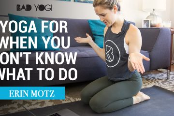 Yoga for When You Don't Know What to Do cover