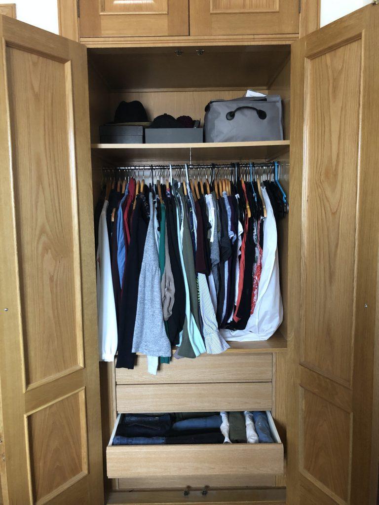 easy konmari closet
