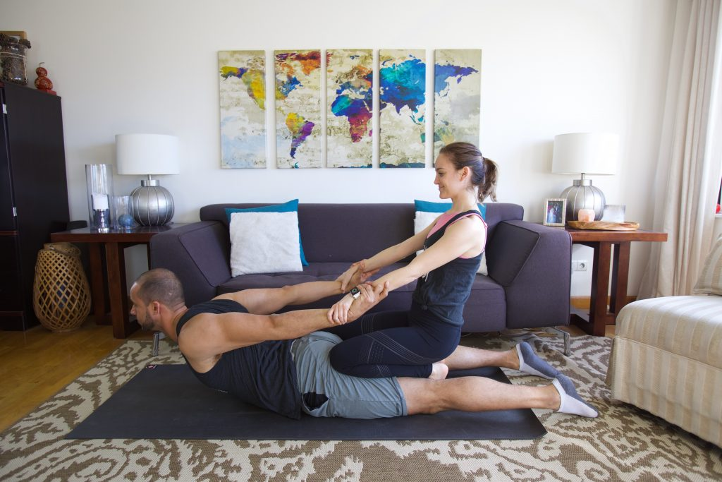 Partner Yoga Assisted Cobra