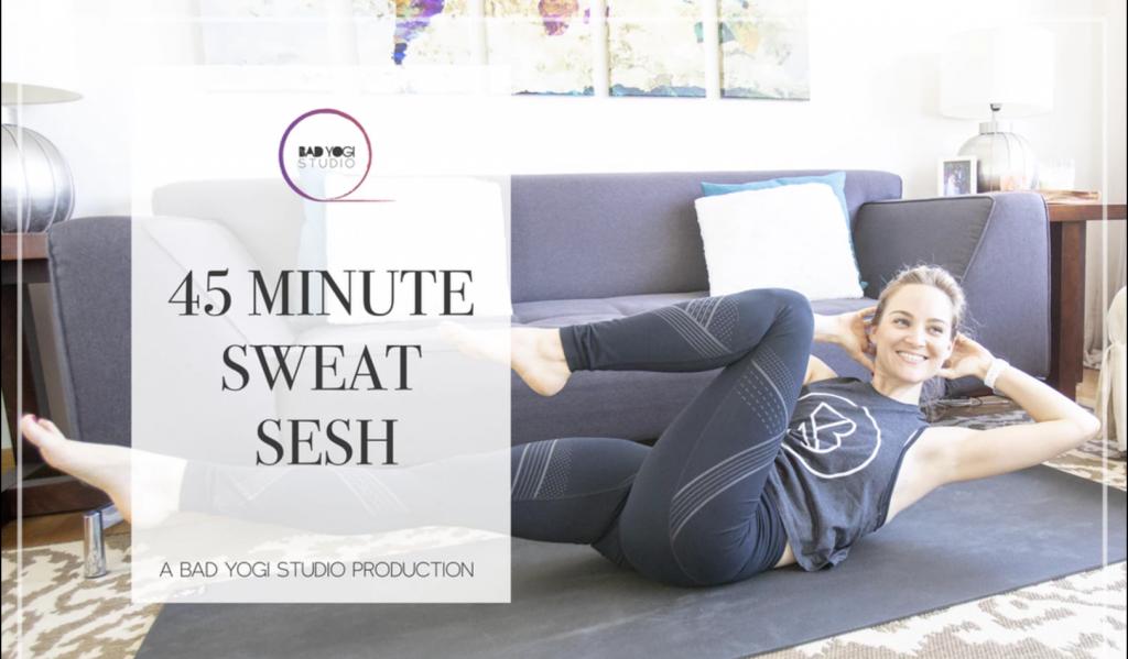 bad yogi studio 45 minute sweat sesh