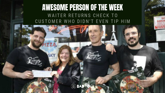 Awesome Person Of The Week Waiter Returns Check To Customer Who Didn T Even Tip Him Bad Yogi Blog