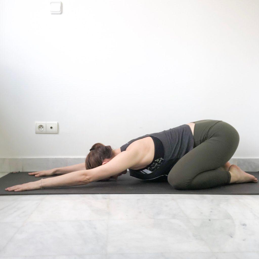child's pose bad yogi