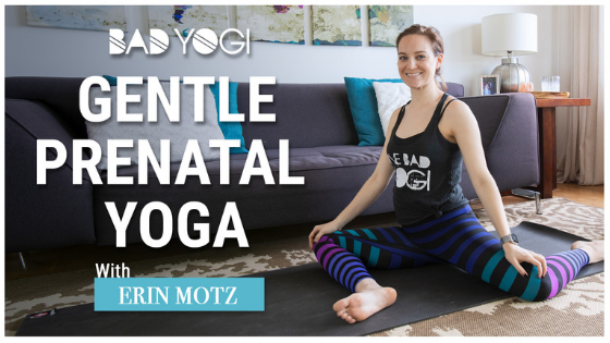 gentle prenatal yoga bad yogi blog feat