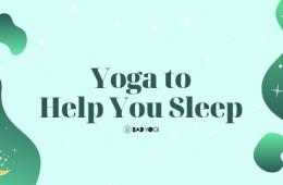 yoga to help you sleep