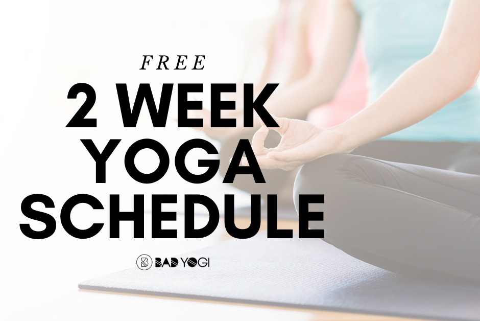 free 2 week yoga schedule